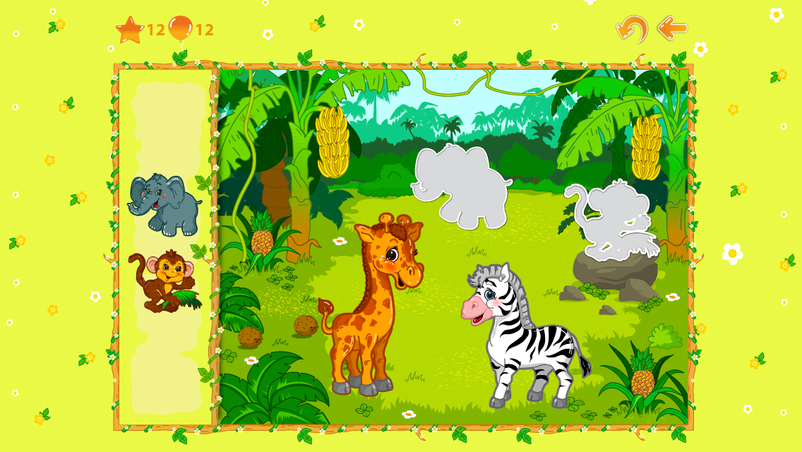 Kid Erudite puzzles 1+ Lite: toddlerÔÇÖs educational game with cute animals