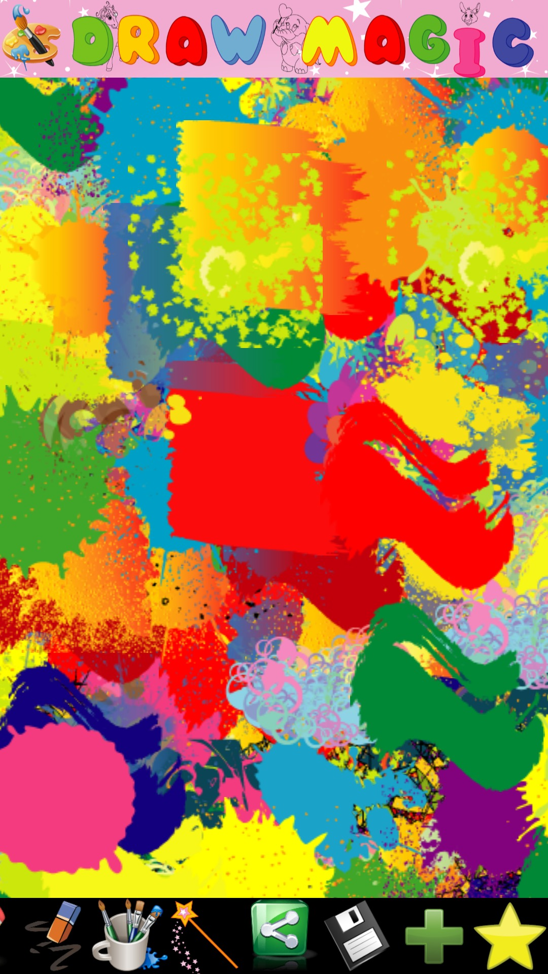 Abstract painter for kids