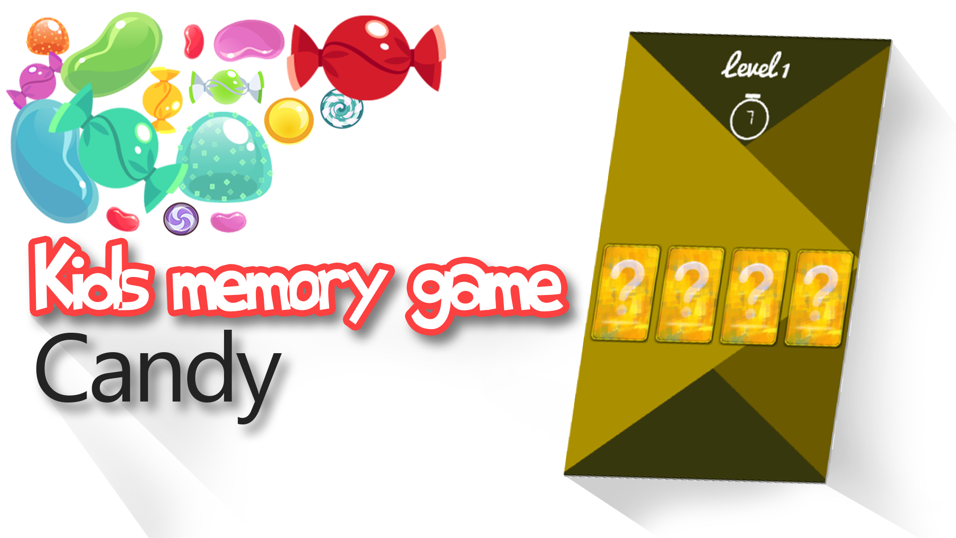 Kids memory game Candy