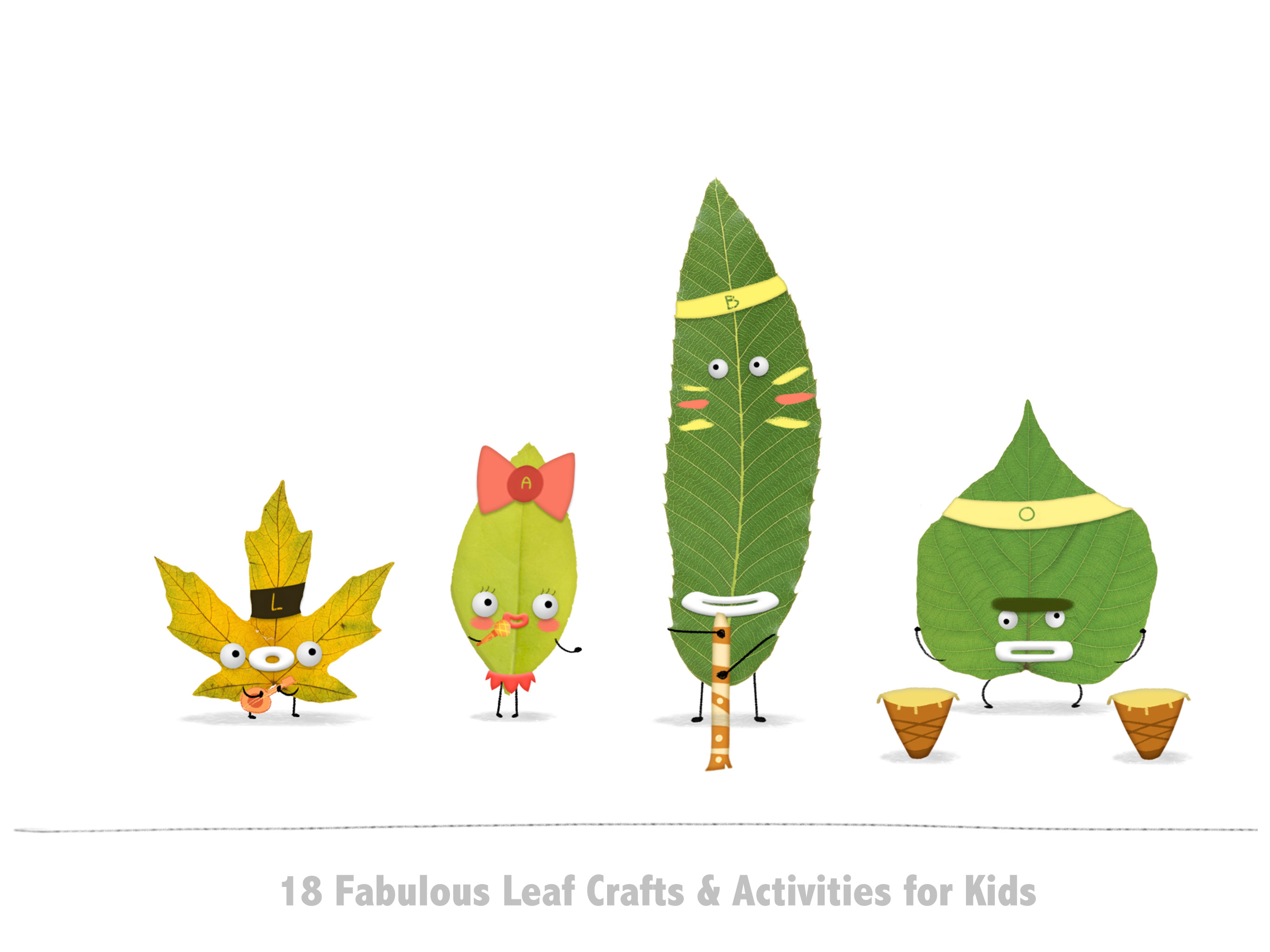 Labo Leaves – 18 Leaf Crafts & Activities for Kids 3+