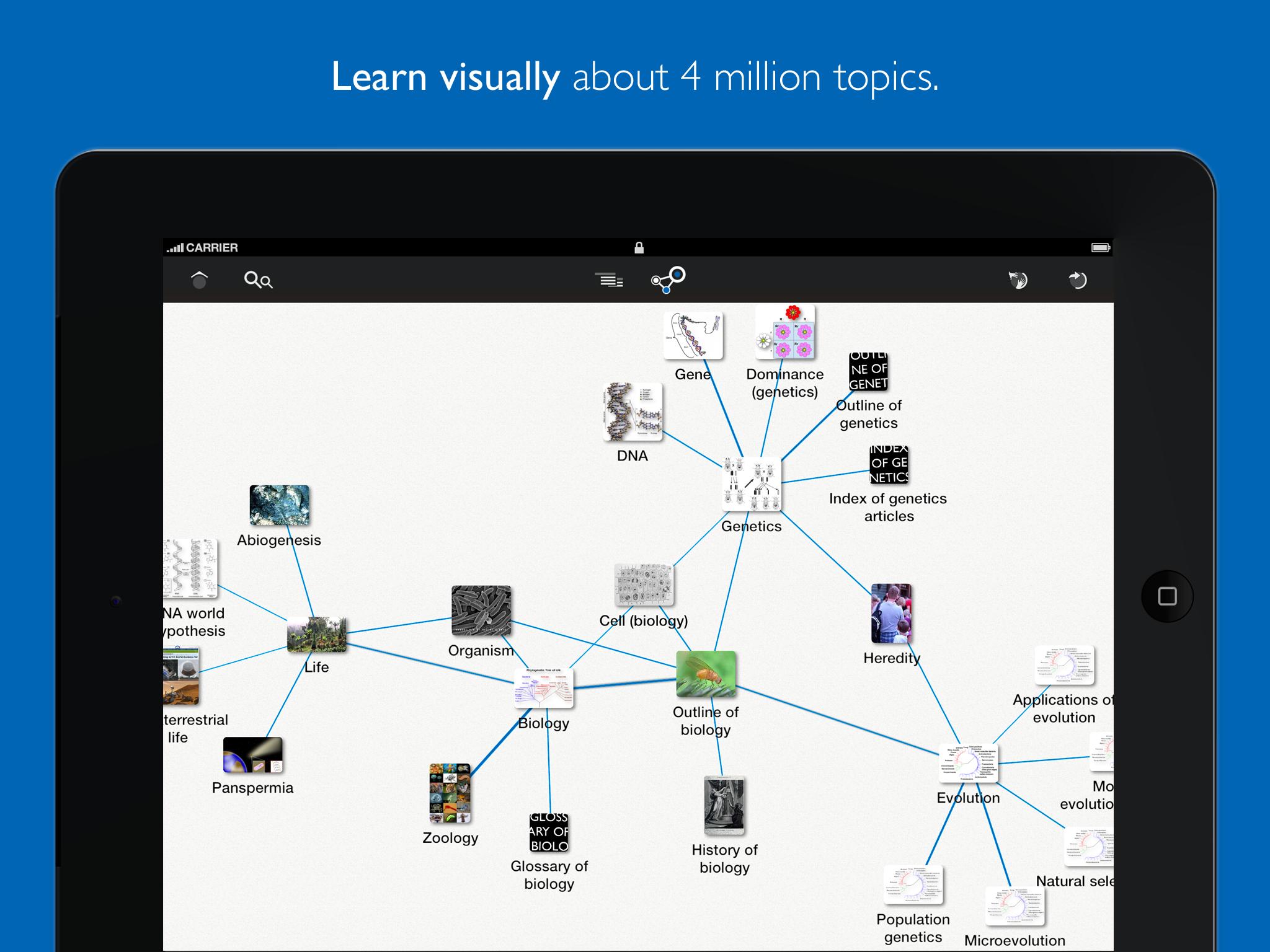 Learn Discovery – Mindmap of Wikipedia