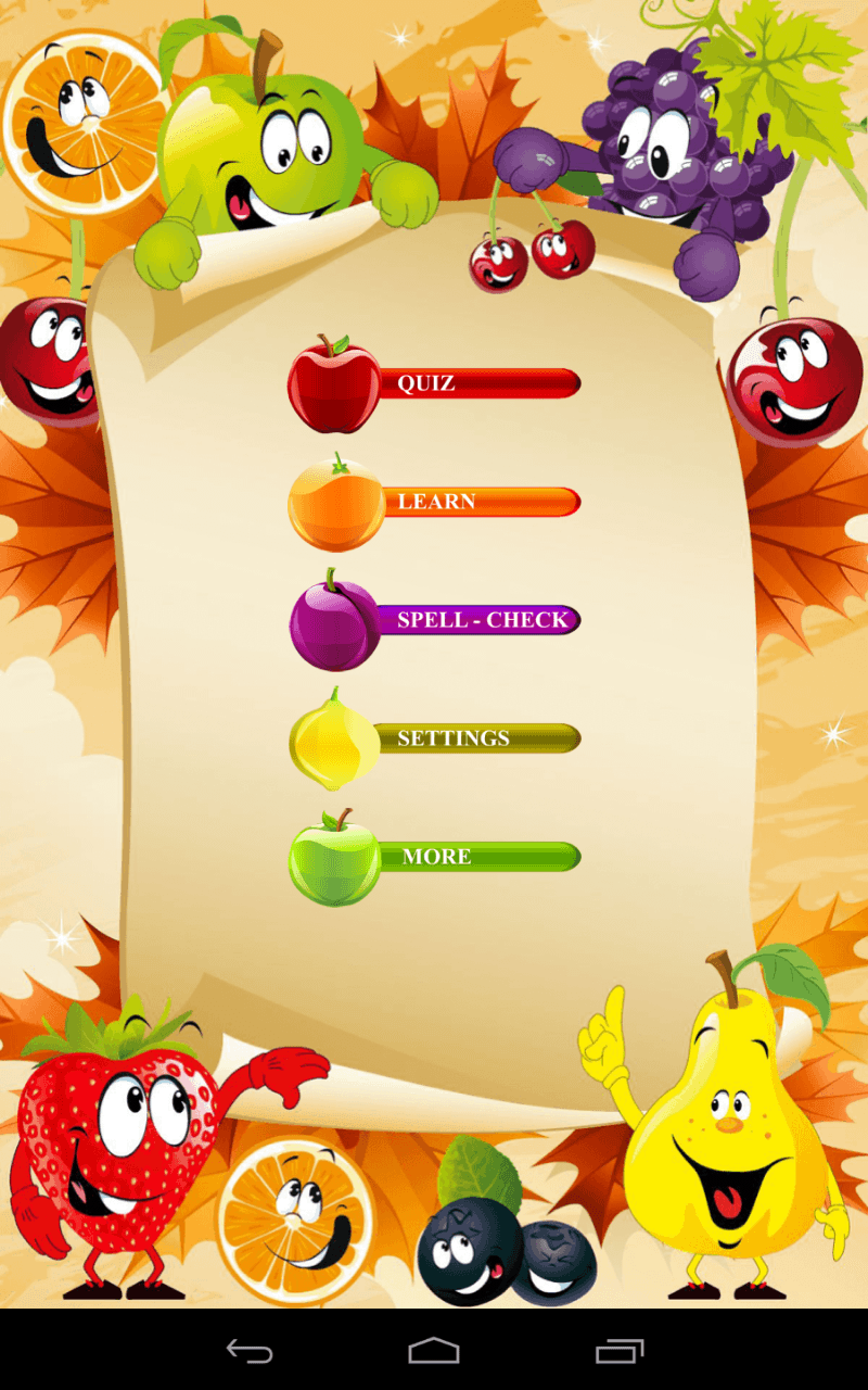 Learn Fruits