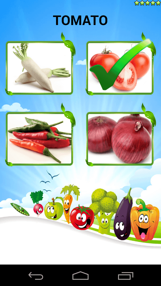 Learn Vegetables