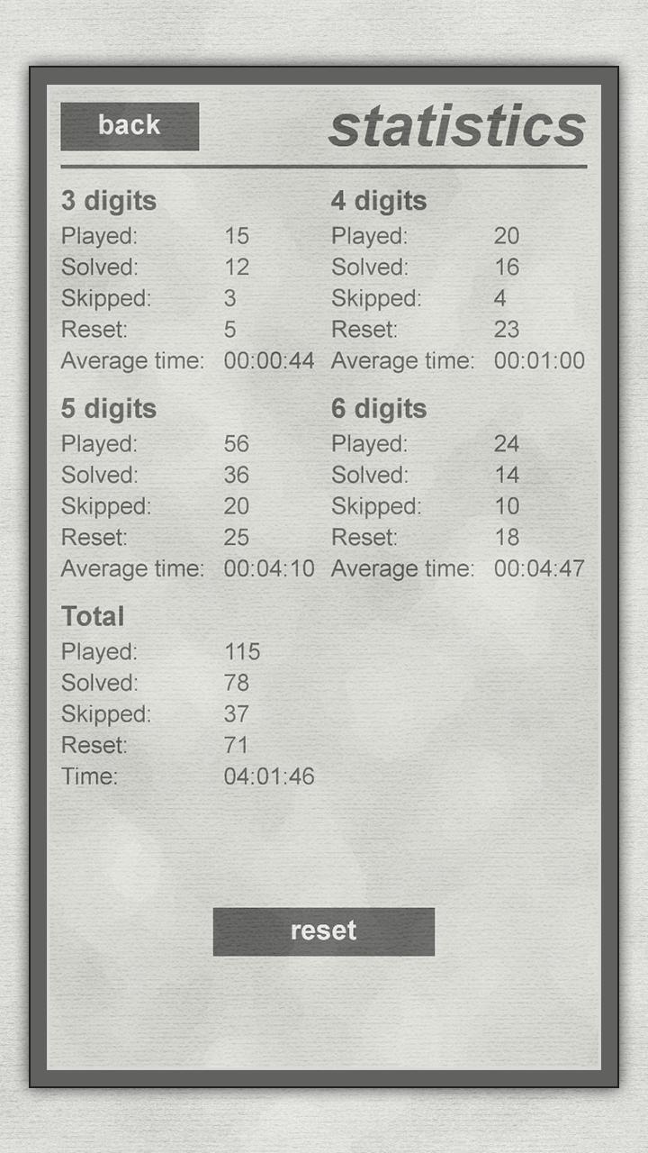 LogiBrain Numbers