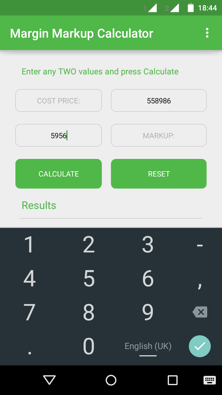 margin markup calculator
