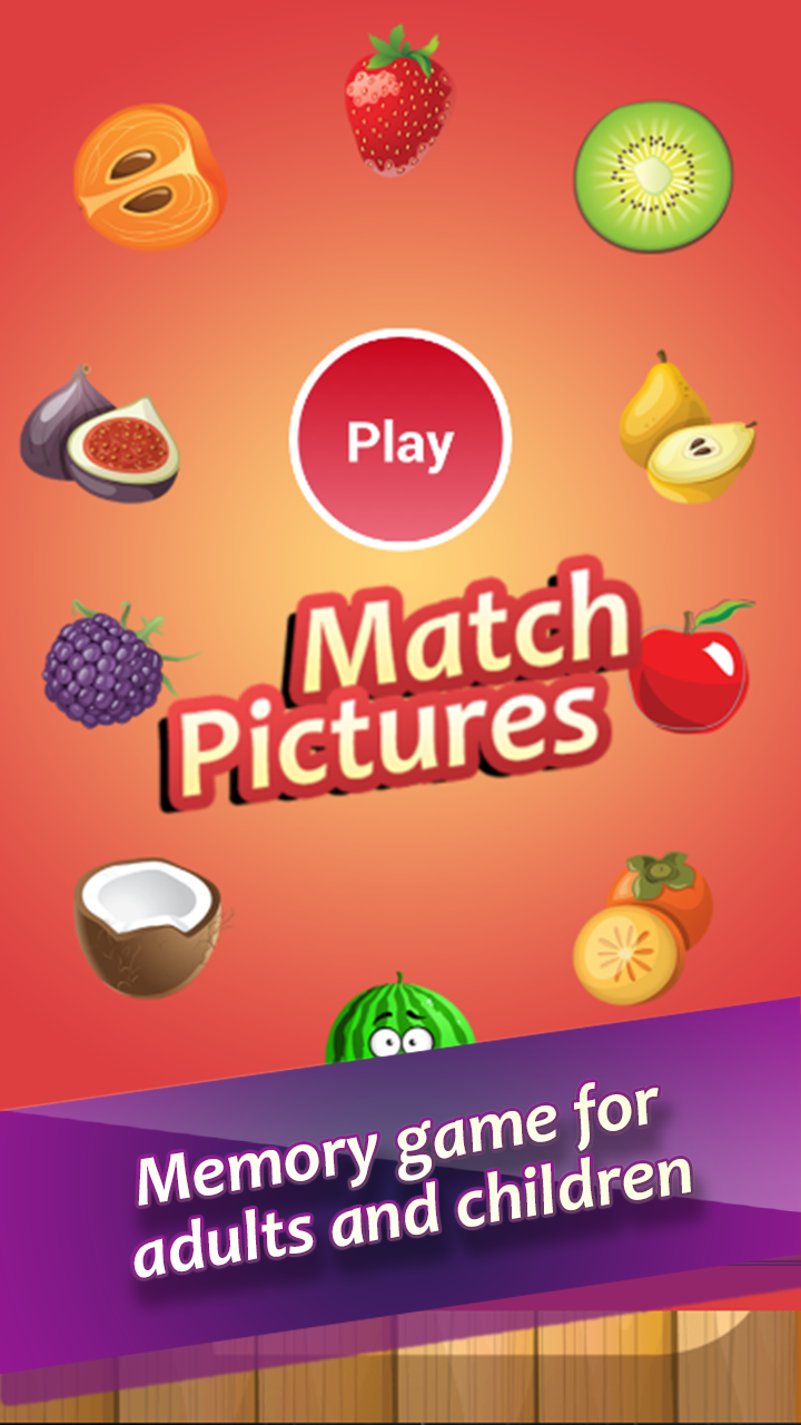 Match Pictures of Fruits
