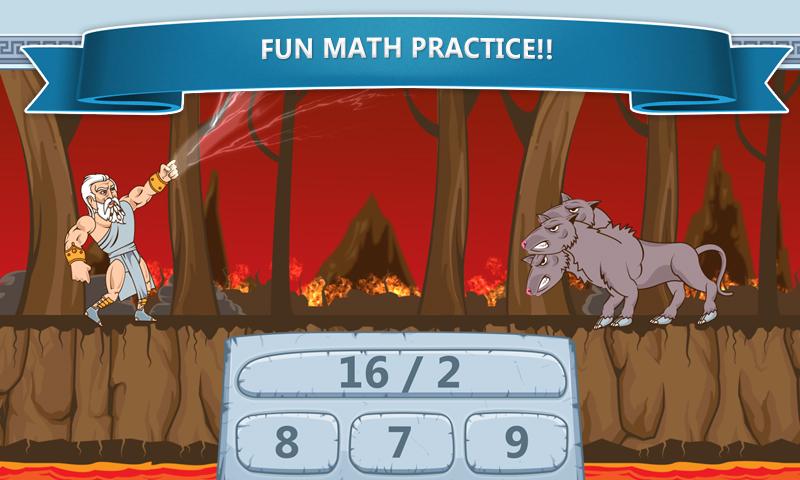 Math Games – Zeus vs. Monsters