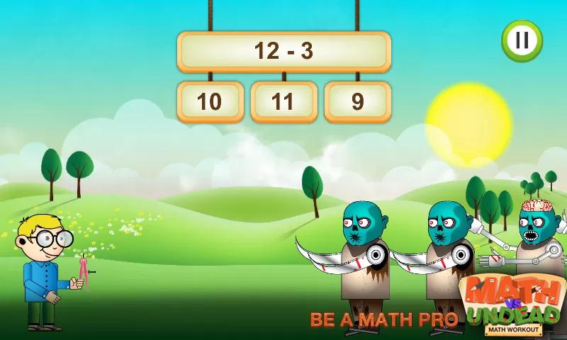 Math vs. Undead: Math Workout