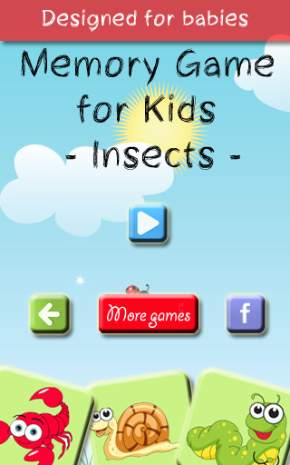 Memory Game for Kids – Insects