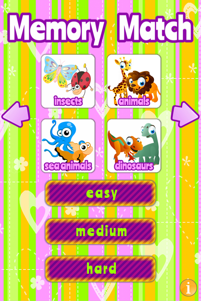 Memory Match HD for kids