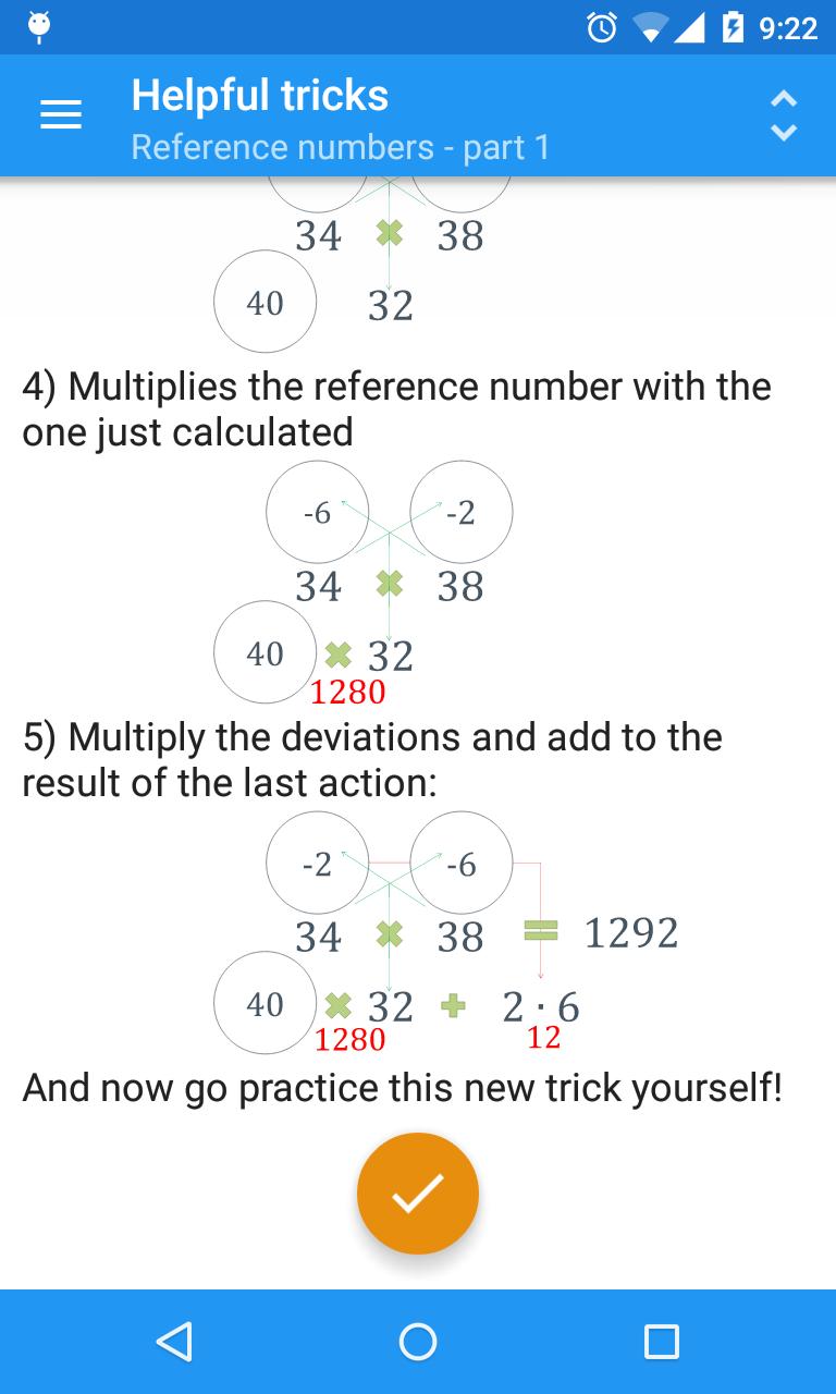 Mental math tricks