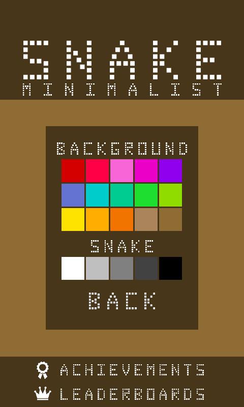 Minimalist snake