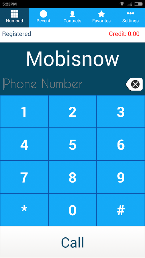 MobiSIP Android SIP Dialer