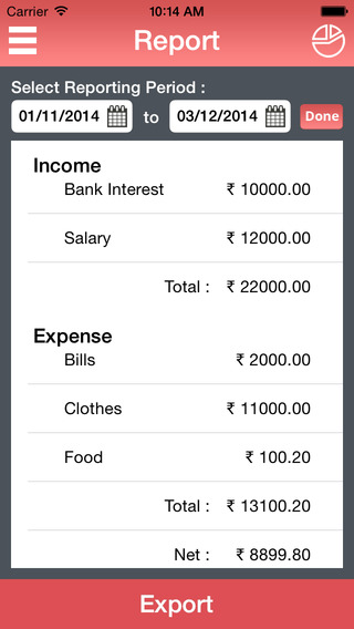 My Budget – Income Expense Manager