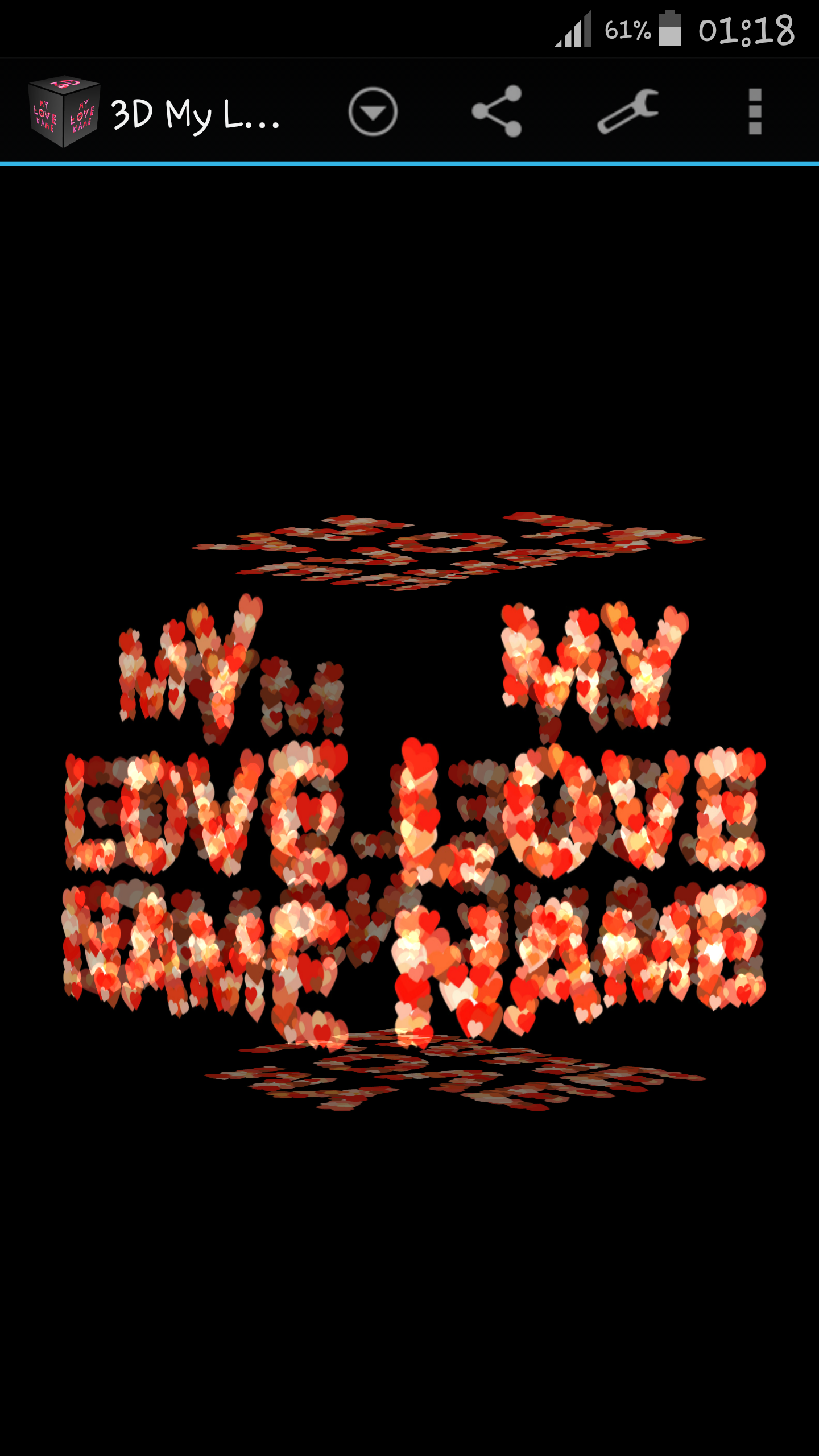 My Name with Love Letters LWP