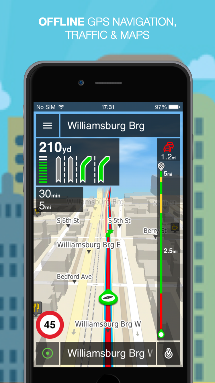 Nlife Explorer ÔÇô Offline GPS Navigation, traffic and maps