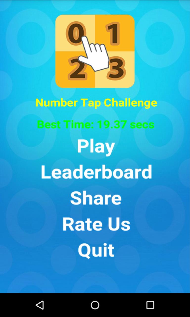 Number Tap Challenge