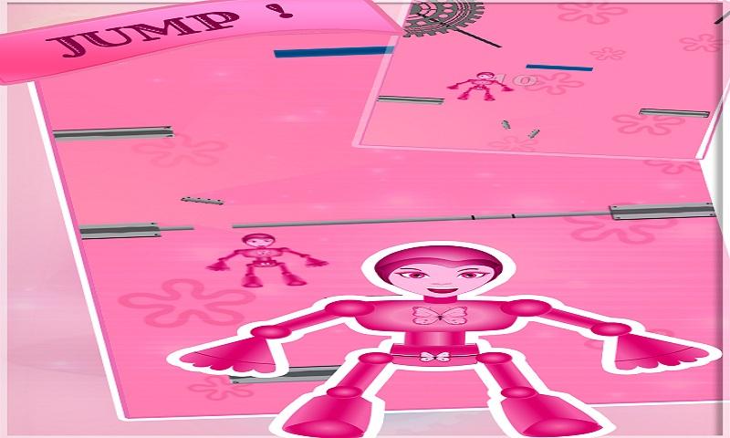 Pink Robo super power girl