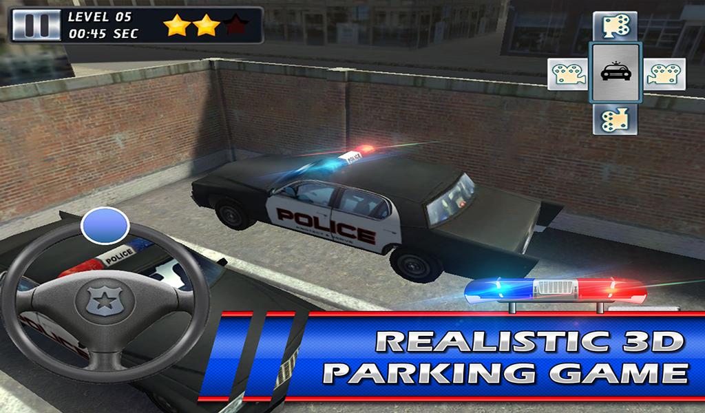 Police car 3D Parking Riot