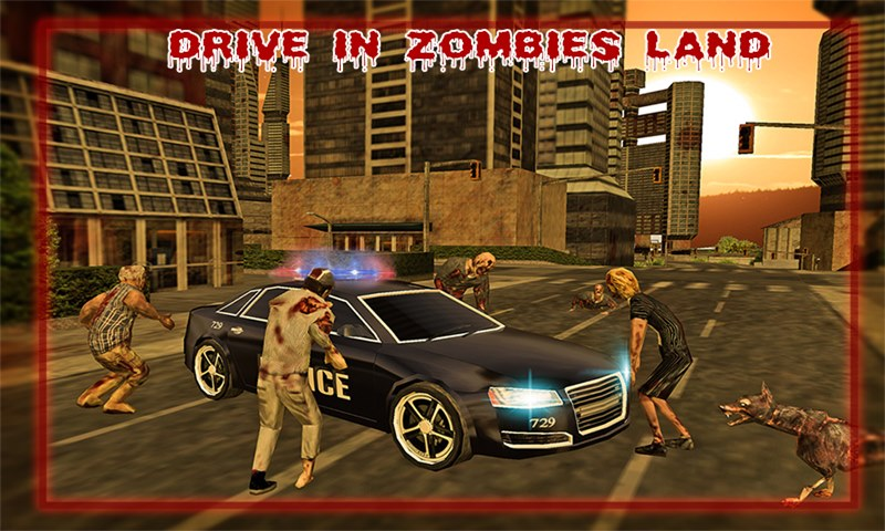 Police Driver Halloween Zombie