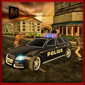 Police Driver Halloween Zombie