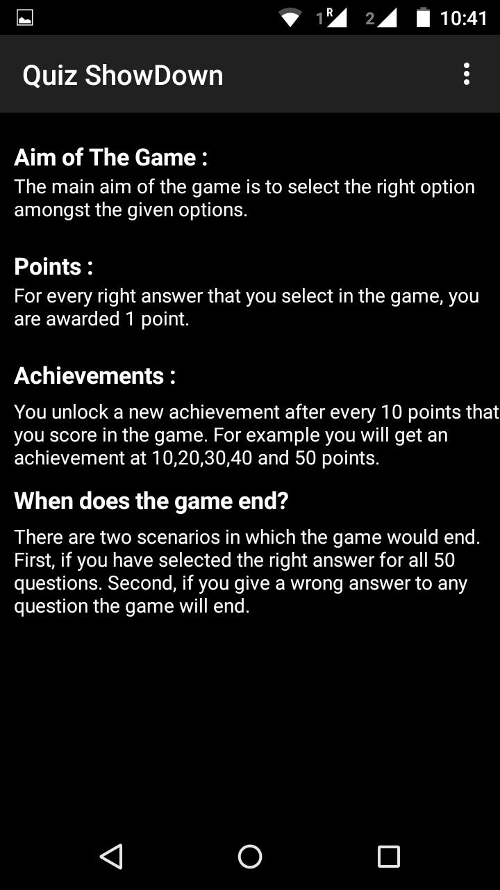 Quiz ShowDown