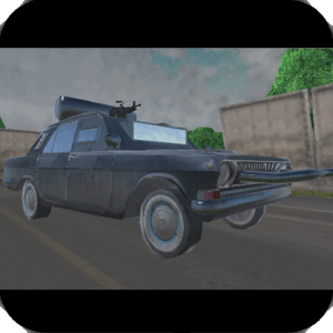 Rusty car agaist zombies 3D