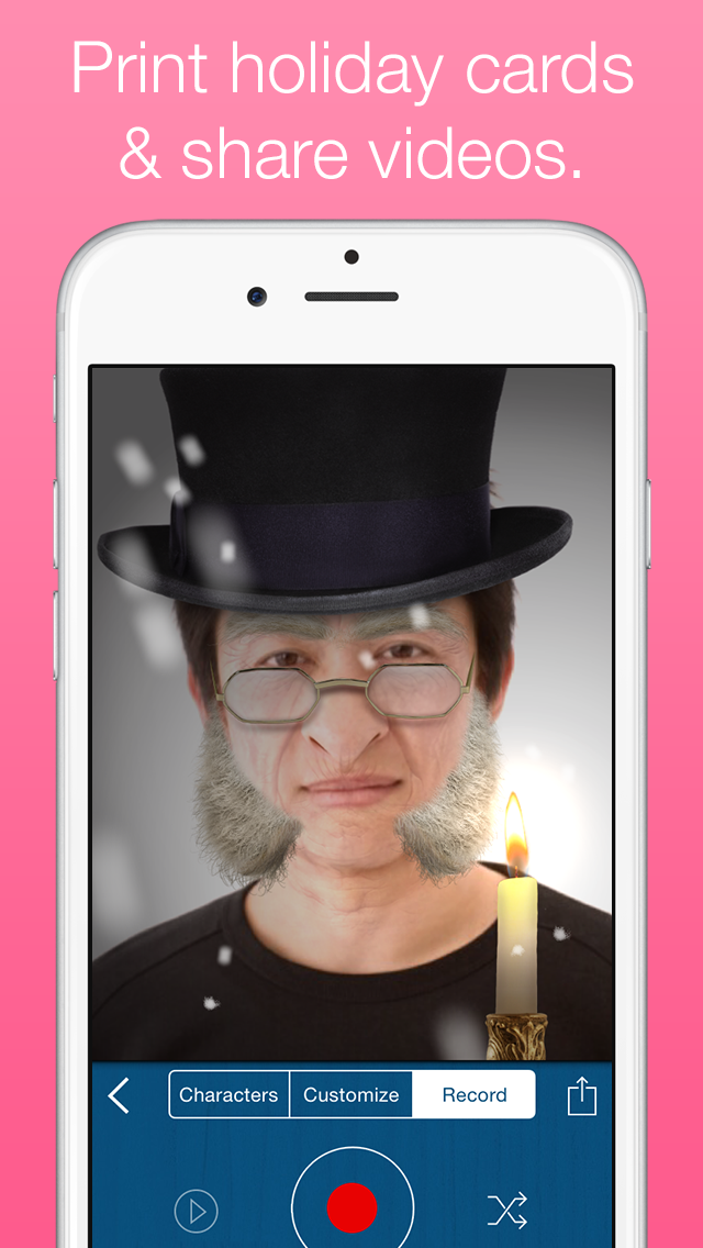 Santify – Make yourself into Santa, Rudolph, Scrooge, St Nick, Mrs. Claus or a Christmas Elf