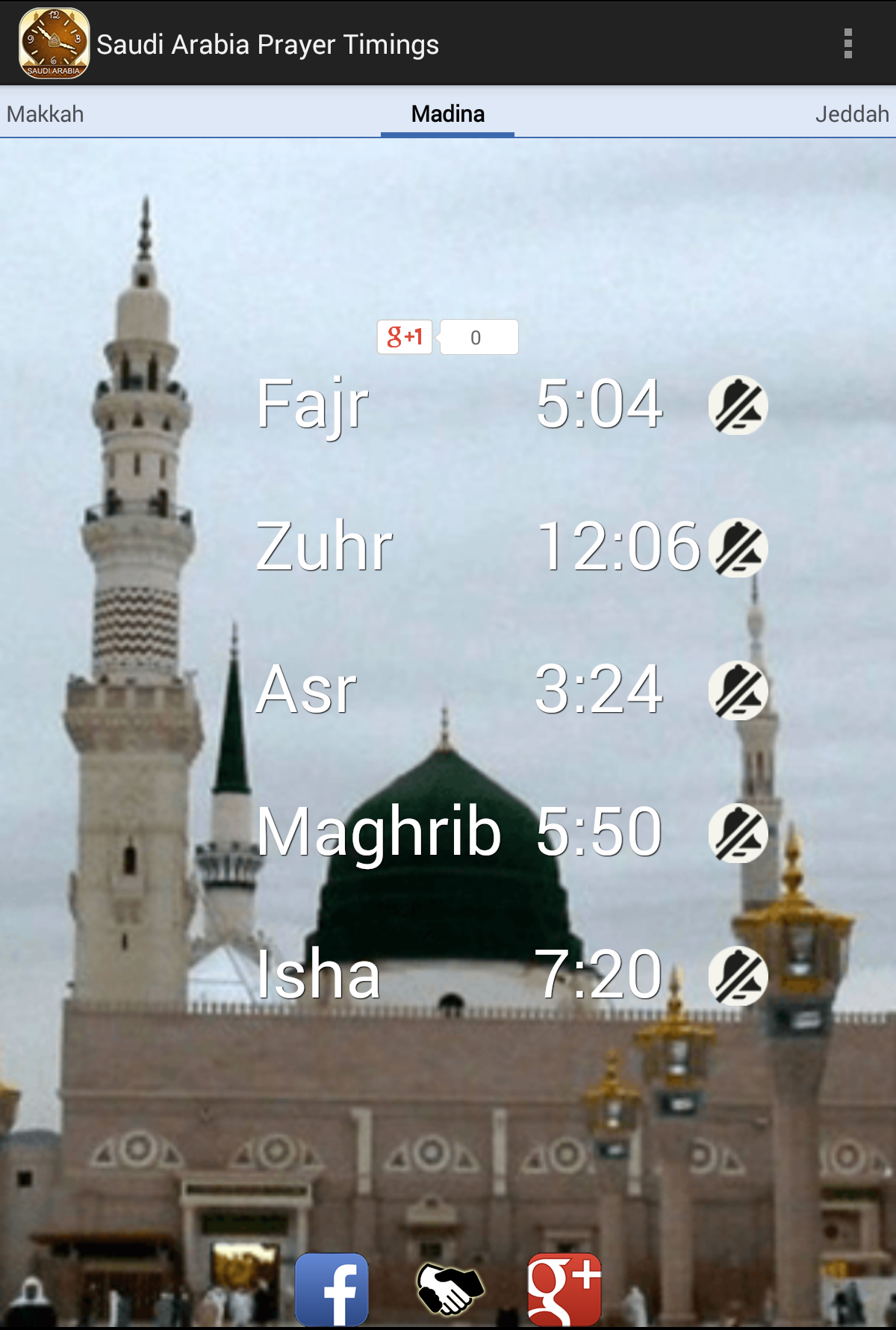 Saudi Arabia KSA Prayer Times