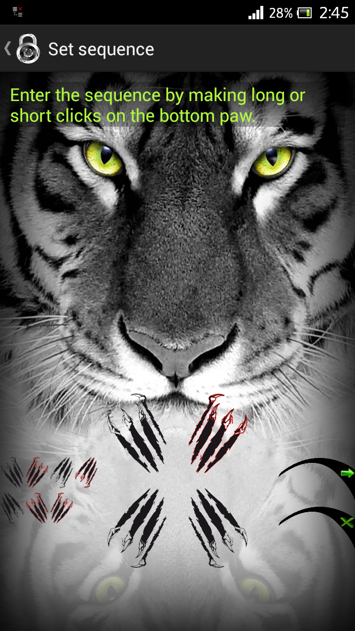 screen lock tiger