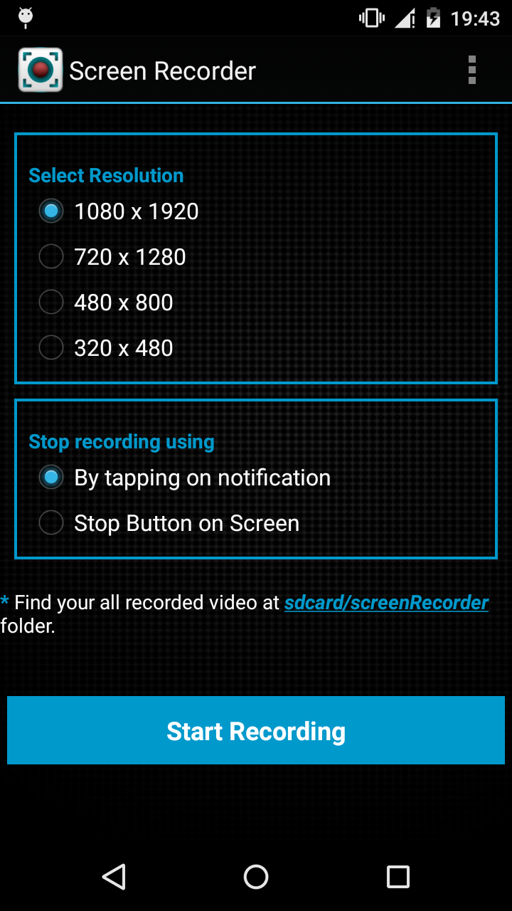 Screen Recorder – No Root