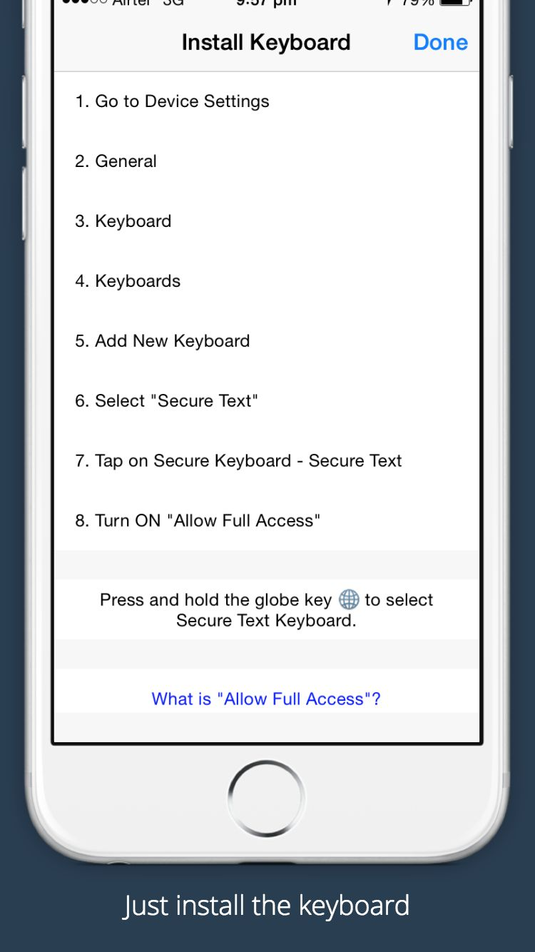 Secure Text Keyboard