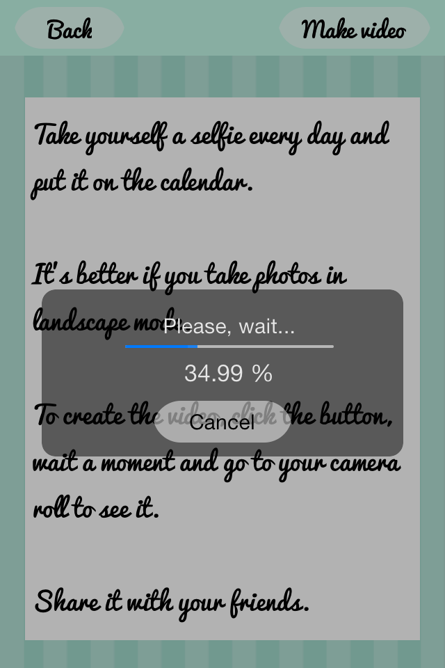 Selfie video – make a video with your selfies