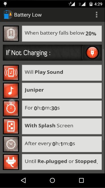 Skana Battery Alerts