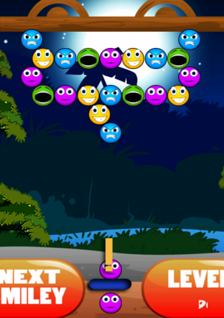 Smiley Bubble Shooter 2015