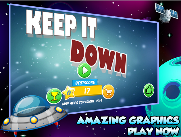 Spaceship battle: Keep IT DOWN