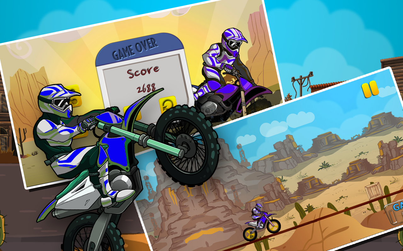 Speedy Bike Stunts : Hill Race