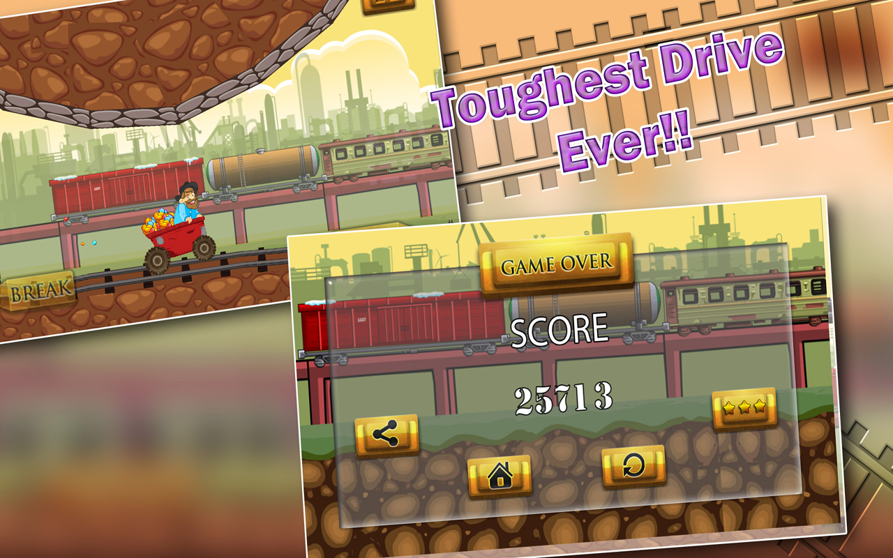 Speedy Gold Miner : Rail Rush