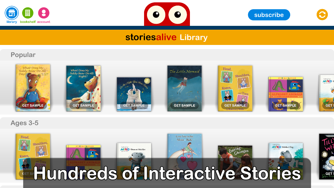 StoriesAlive – Library app by Auryn