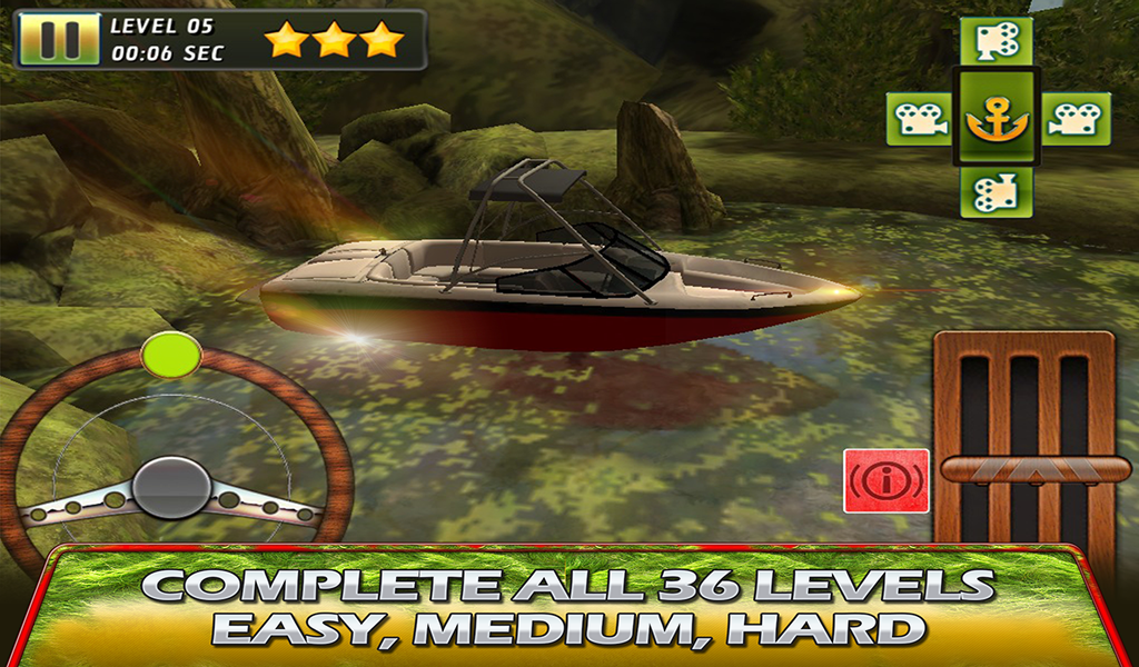 Swamp Boat Parking – 3D Racer