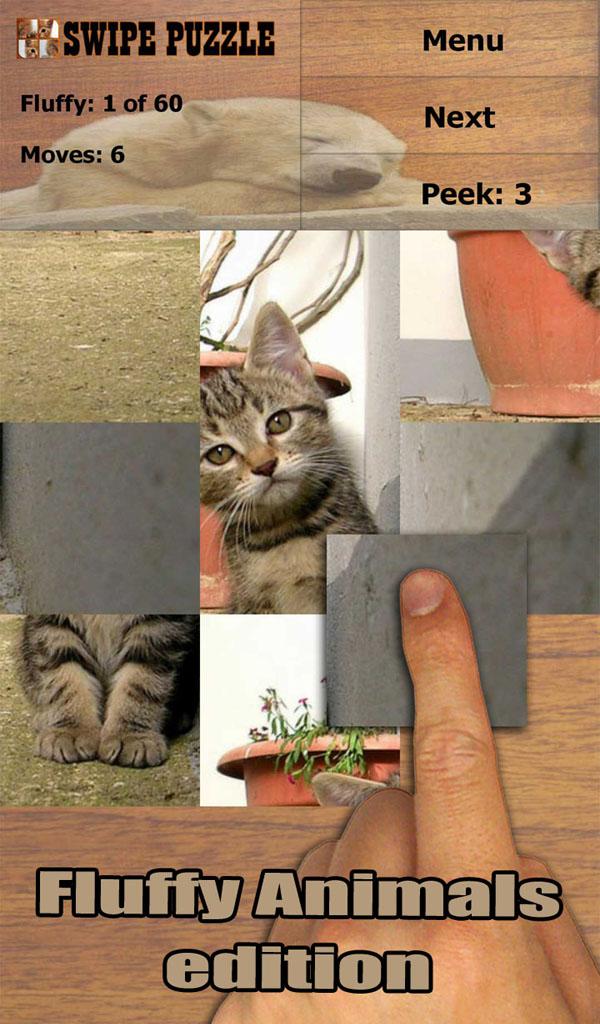 Swipe Puzzle: Fluffy Animals