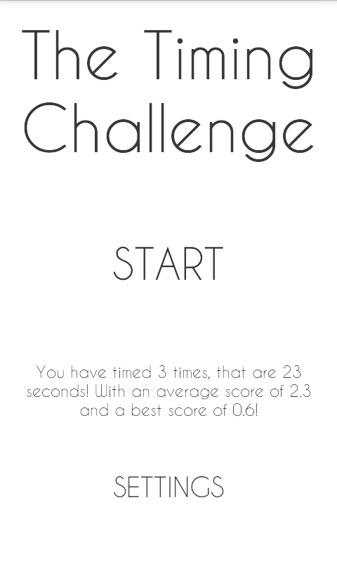 The Timing Challenge