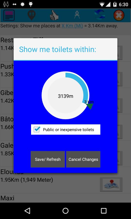 Toilet & Place Finder