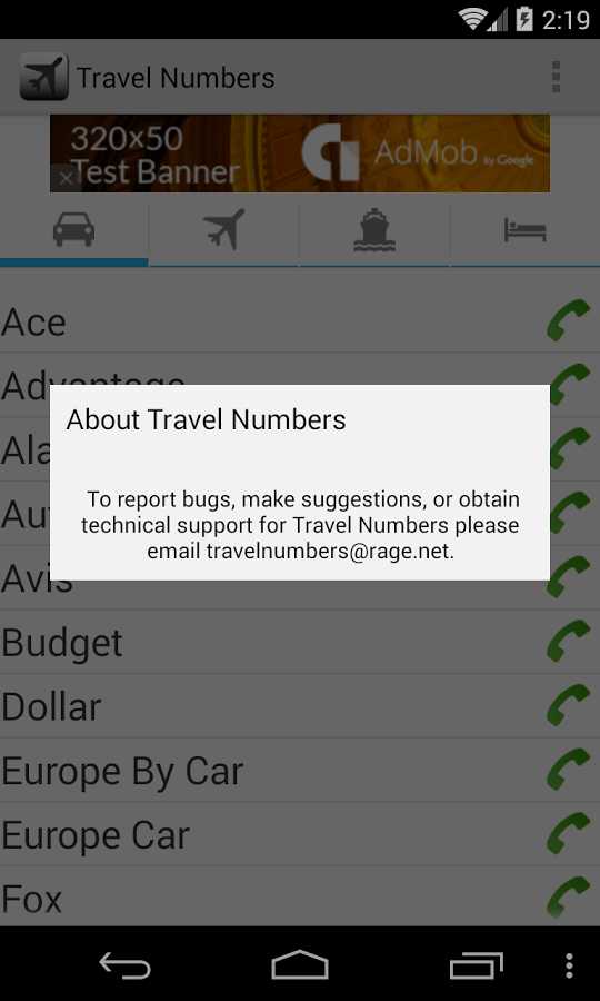 Travel Numbers