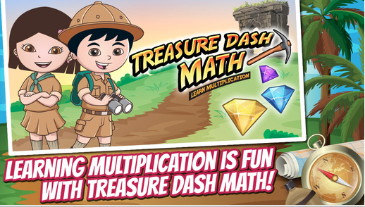Treasure Dash Math: Learning Multiplication