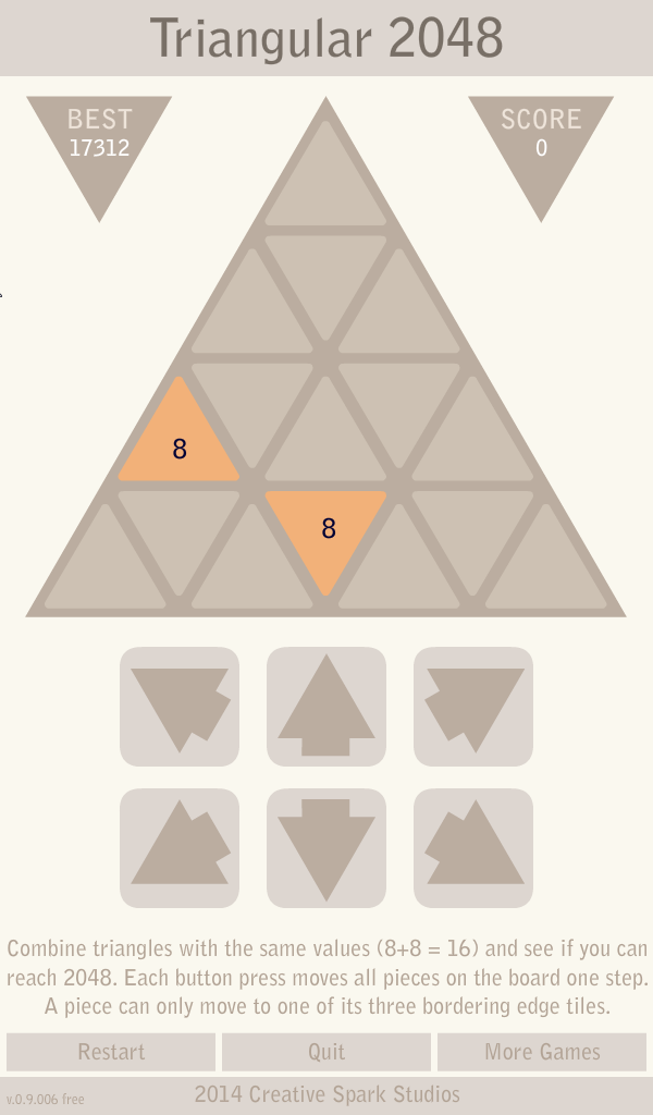 Triangular 2048 – Free
