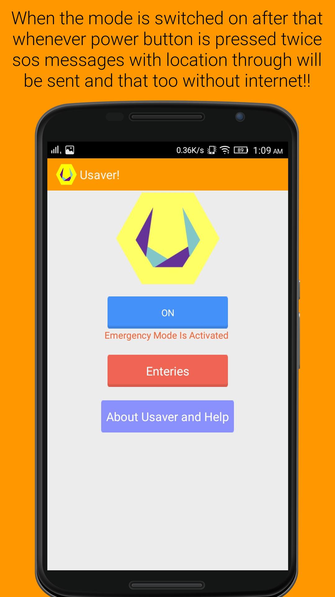 Usaver! – 'The LifeSaver App'
