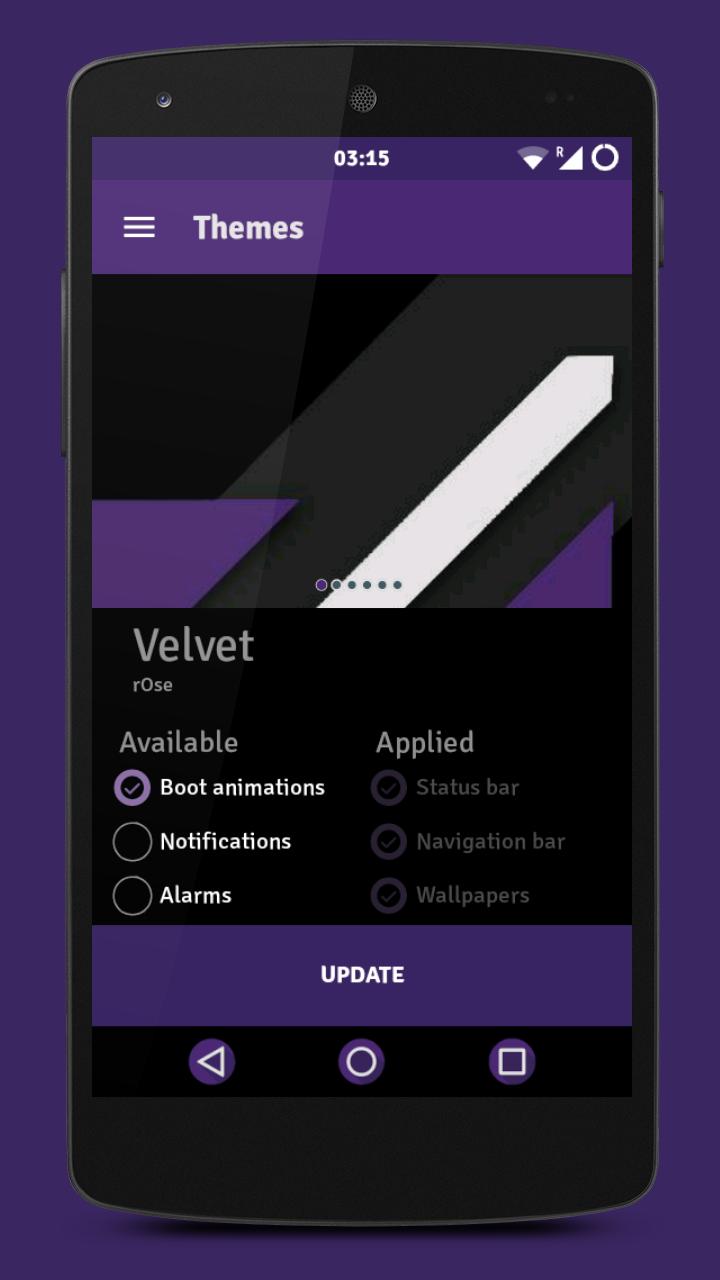 Velvet – Dark CM12.x Theme
