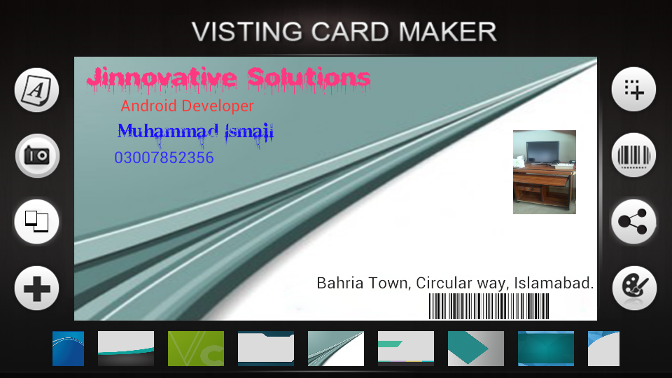 Visiting Cards Maker