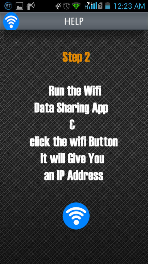 WiFi Data Sharing